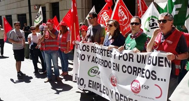 Protesta Correos