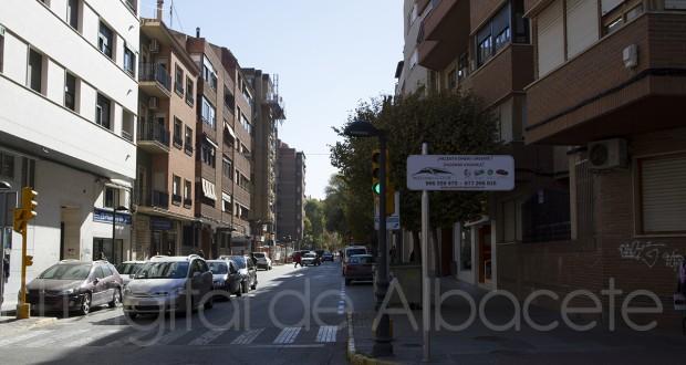 Calle céntrica de Almansa (Albacete) (Foto - Pilar Felipe)