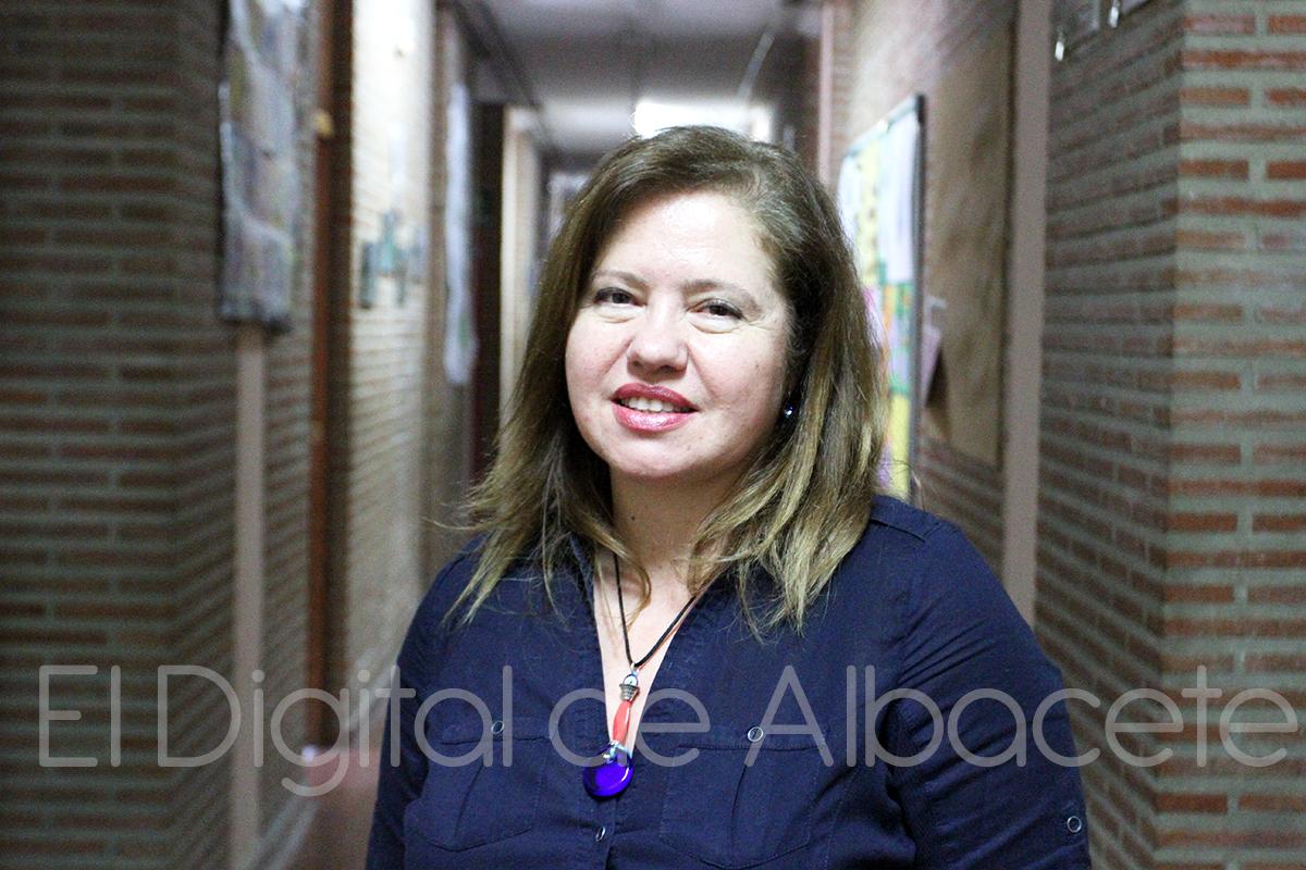 María Teresa Rodríguez, directora del colegio Cristóbal Valera de Albacete (Foto - Pilar Felipe)