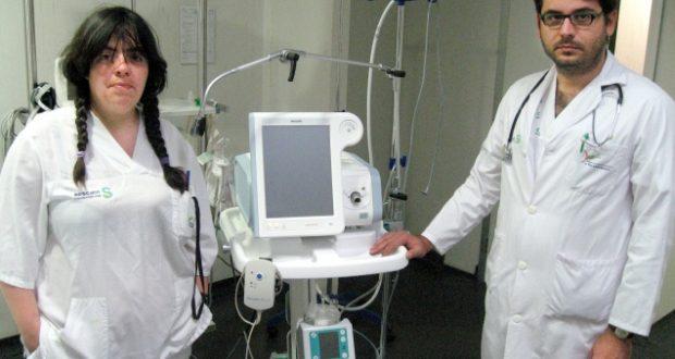 Jesús González con el respirador