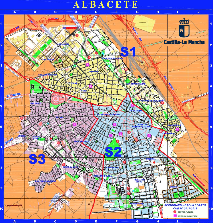 Estos son los mapas oficiales de las zonas de albacete para elegir colegio e instituto el - Plano de almansa ...