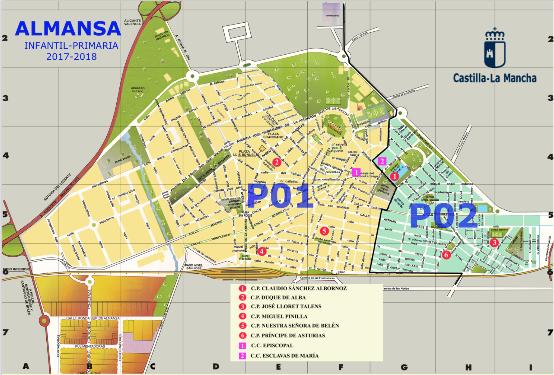 Este es el mapa oficial de las zonas de almansa para - Plano de almansa ...