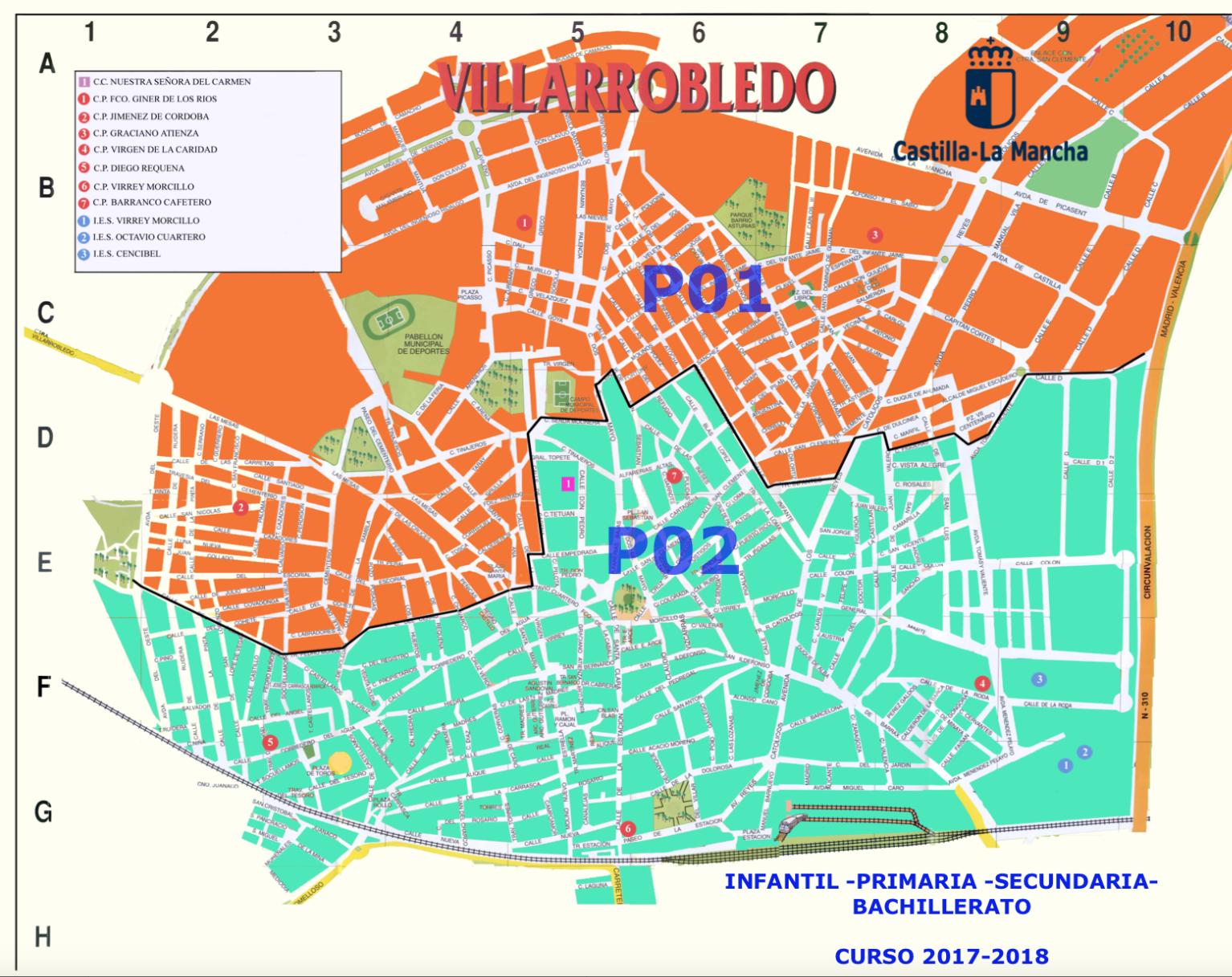 Este es el mapa oficial de las zonas de villarrobledo para - Plano de almansa ...