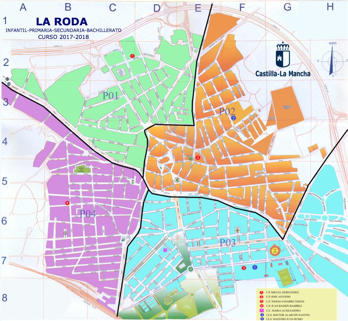 Este es el mapa oficial de las zonas de la roda para - Plano de almansa ...