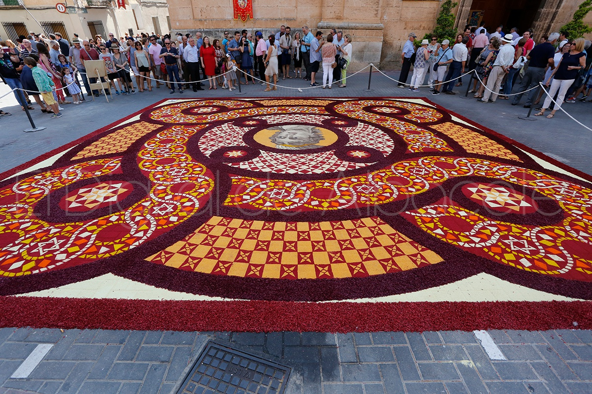 Elche de la sierra despierta preciosa con sus espectaculares alfombras de serr n del corpus - Las mejores alfombras ...