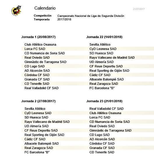 Albacete Balompie Calendario.El Alba Ya Conoce Su Calendario Liguero El Digital De Albacete