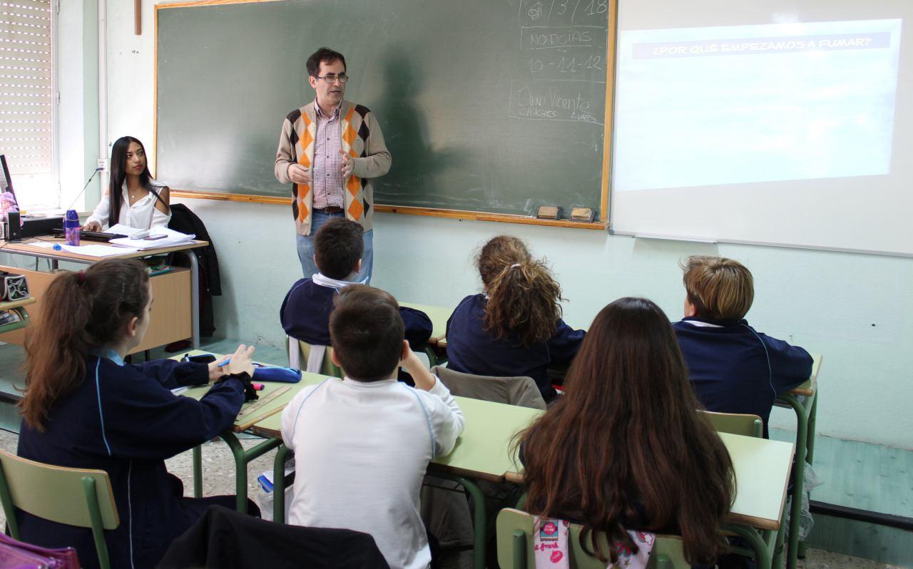 Clase sin humo colegio - El Digital de Albacete