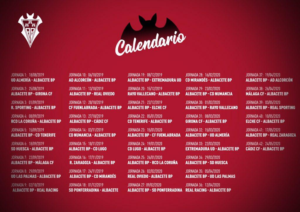Calendario Completo.El Albacete Balompie Ya Conoce Su Calendario Para La