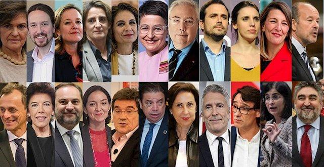 Estos son todos los ministros del Gobierno de coalición de Pedro ...