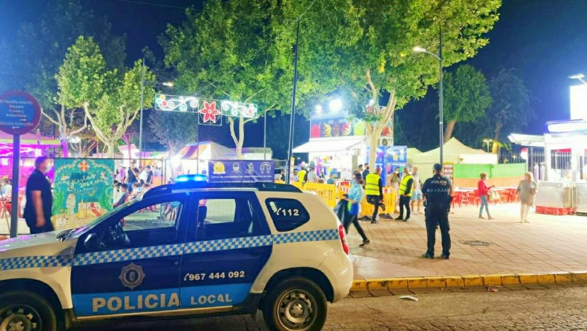 La Policía Local en el Recinto Ferial de La Roda