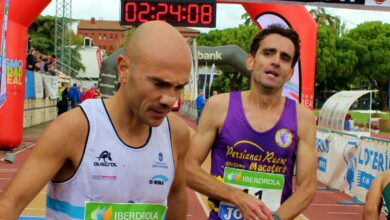 Dos atletas en el Quijote Maratón