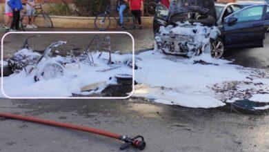 Un coche arde en Albacete