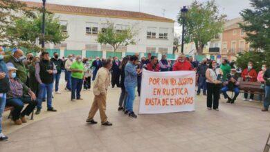 Manifestación de agricultores en la Roda